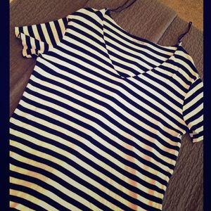 EUC Zara Trafaluc 100% Cotton Stripe Swim Coverup